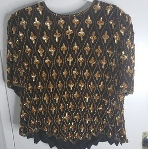 Other - Sequins black & gold blouse